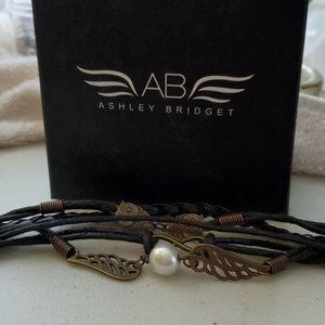 Ashley Bridget leather bracelet